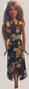 Dark floral 2 piece outfit